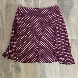 New York & Company knee length flowey fall skirt